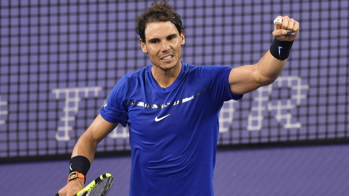 Rafael Nadal après sa victoire contre Cilic à Shanghaï