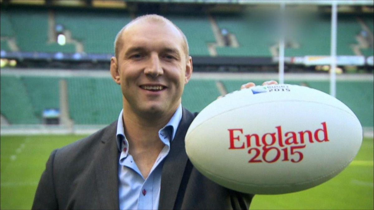 Rugby : Media day at Twickenham one month before world cup Rugby : Media day at Twickenham one month before world cup