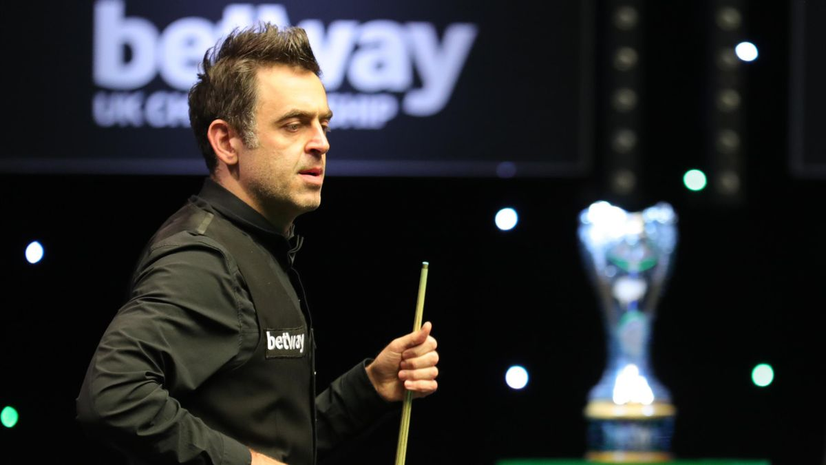 Ronnie O'Sullivan in action in the UK Championship