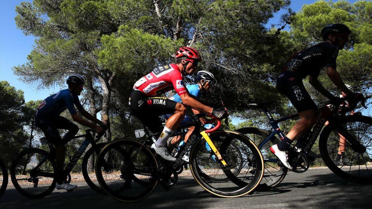 Roglic durante la tappa di Balcón de Alicante alla Vuelta di Spagna 2021