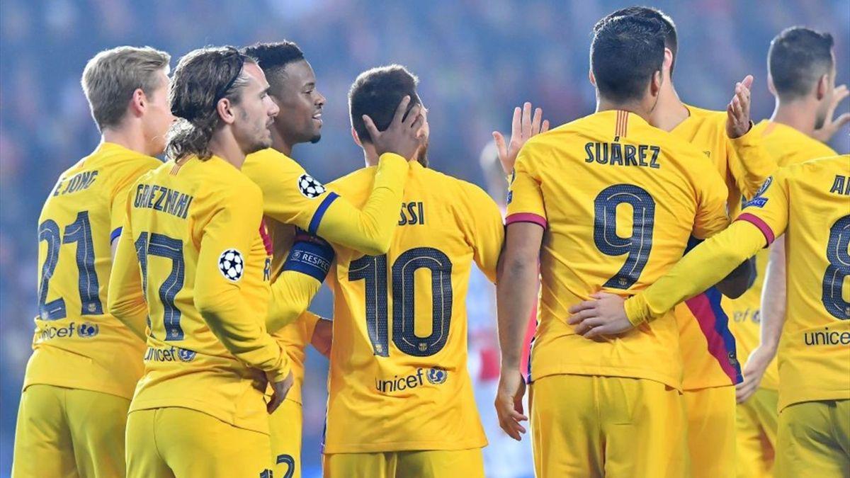 Barcelona, Slavia, Champions