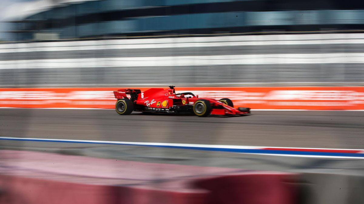 Sebastian Vettel (Ferrari) au Grand Prix de Russie 2020