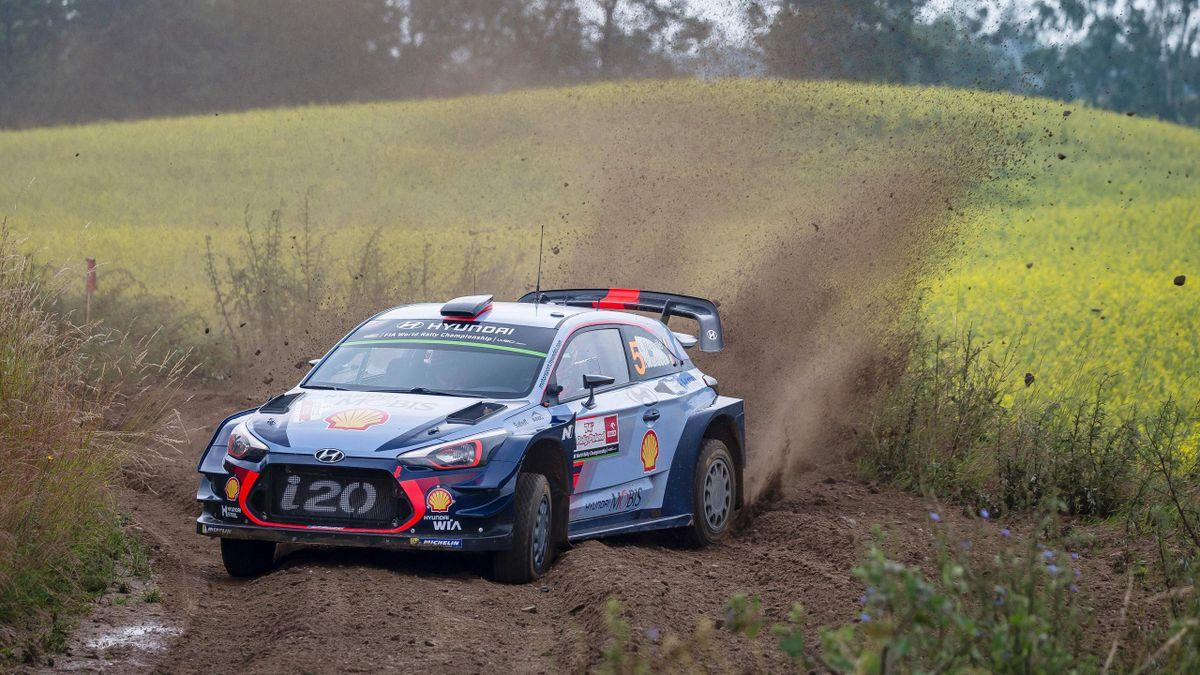 Thierry Neuville sur le rallye de Pologne