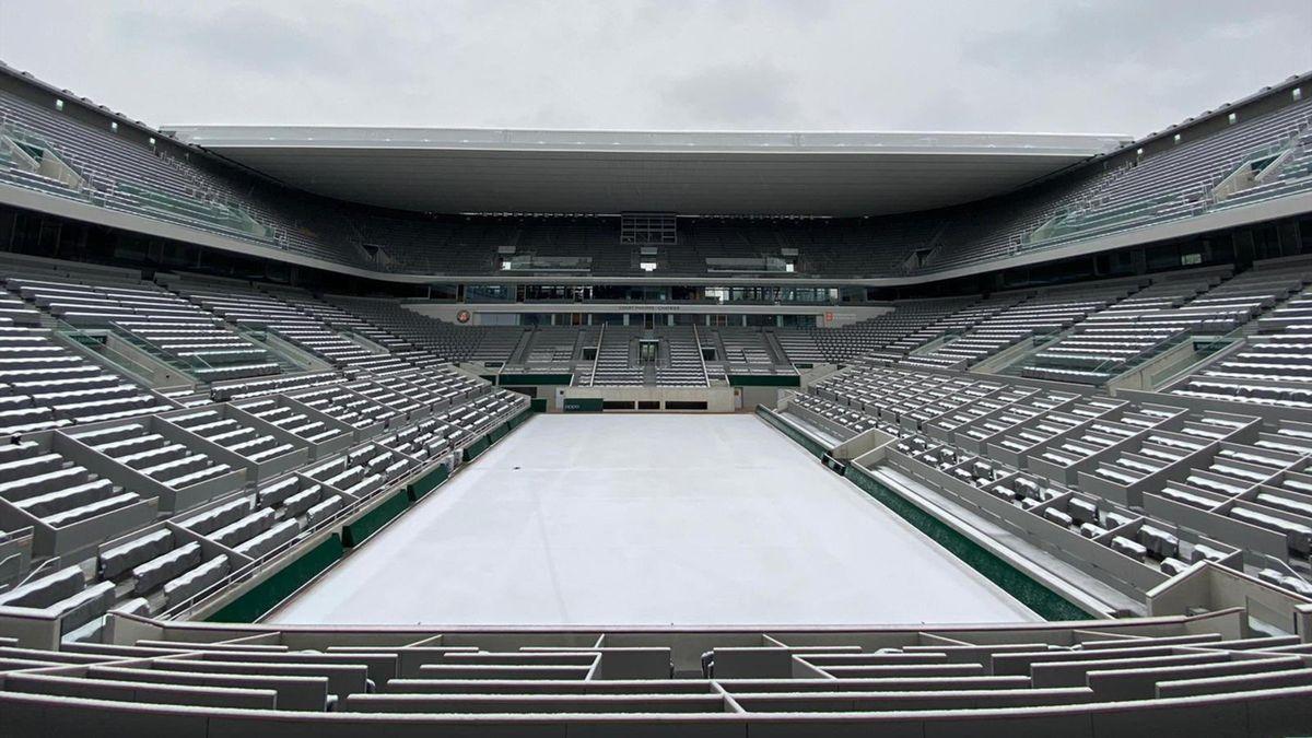 Pista Philippe-Chatrier, Roland-Garros. Twitter: @rolandgarros