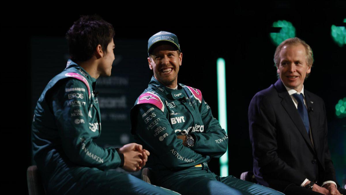 Sebastian Vettel (mitte) geht ab 2021 für Aston Martin in der Formel 1 an den Start