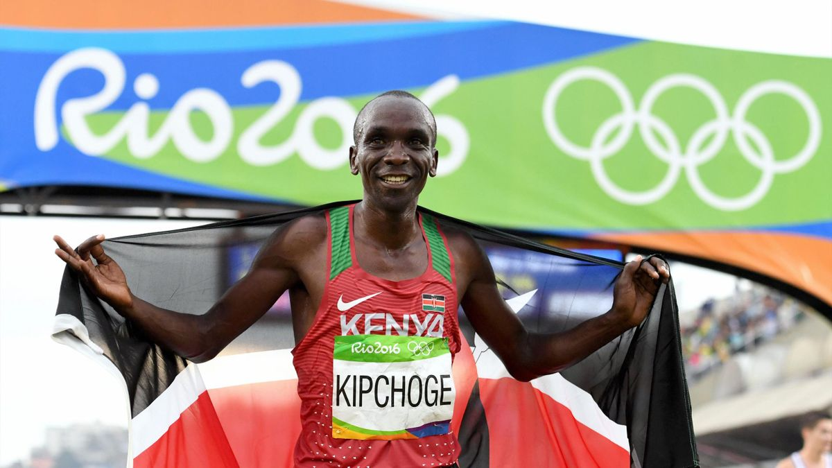 Olympic Momentum Eliud Kipchoge: Kiphoge wins his first marathon gold medal in Rio 2016