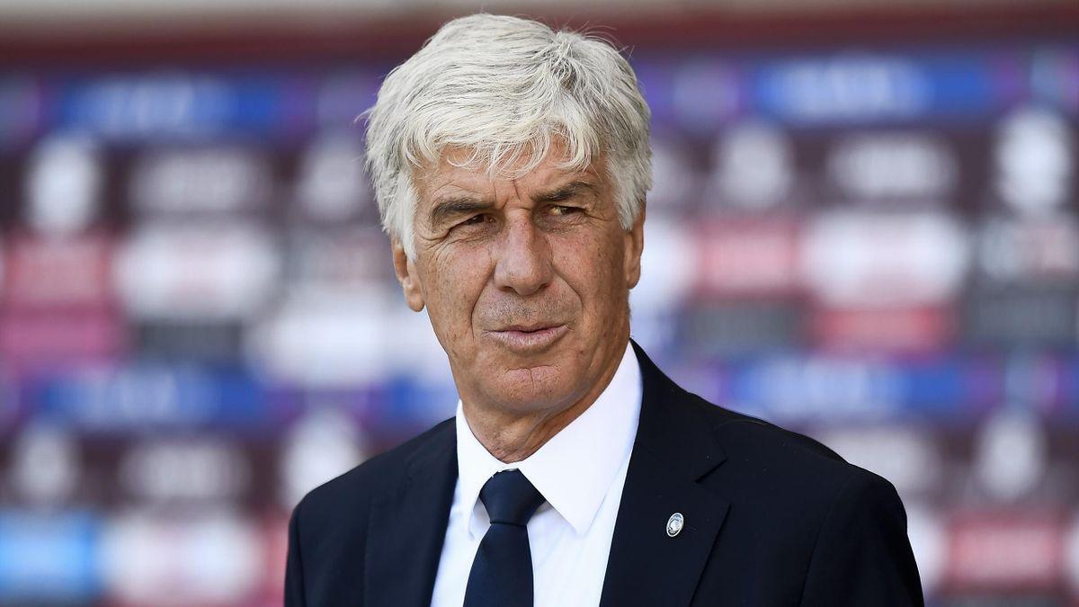 Gian Piero Gasperini, tecnico dell'Atalanta durante Torino-Atalanta, Serie A 2020-2021 (Getty Images)