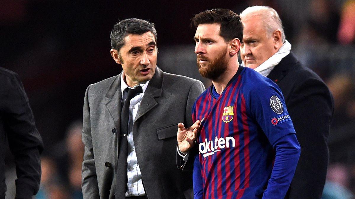 Ernesto Valverde, Lionel Messi (FC Barcelona)