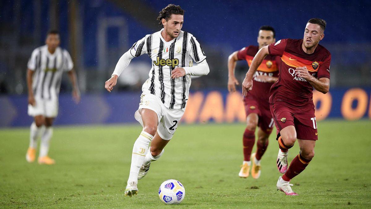 Rabiot in Roma-Juventus