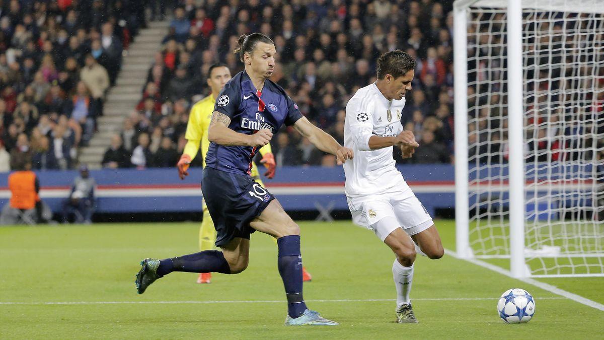 Zlatan Ibrahimovic (PSG) et Raphaël Varane (Real Madrid)