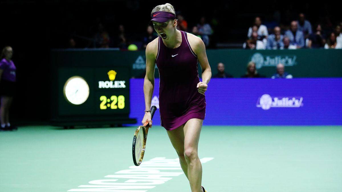 Elina Svitolina lors des WTA Finals à Singapour