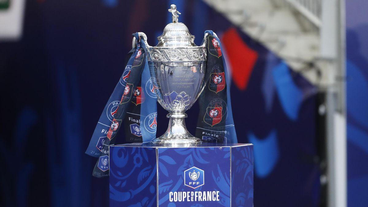 Le trophée de la Coupe de France avant la finale 2019 remportée par Rennes face au PSG.