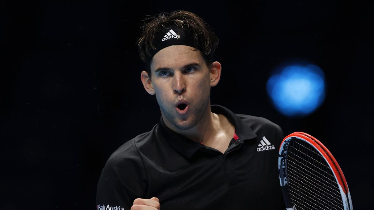 Dominic Thiem face à Rafael Nadal lors du Masters 2020