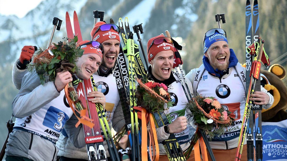 Deutsche Biathleten holen Bronze in Antholz