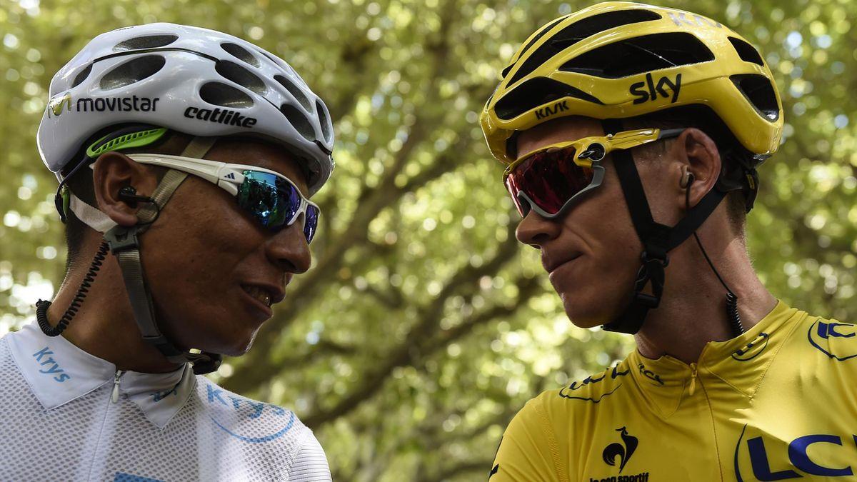 Nairo Quintana et Chris Froome.