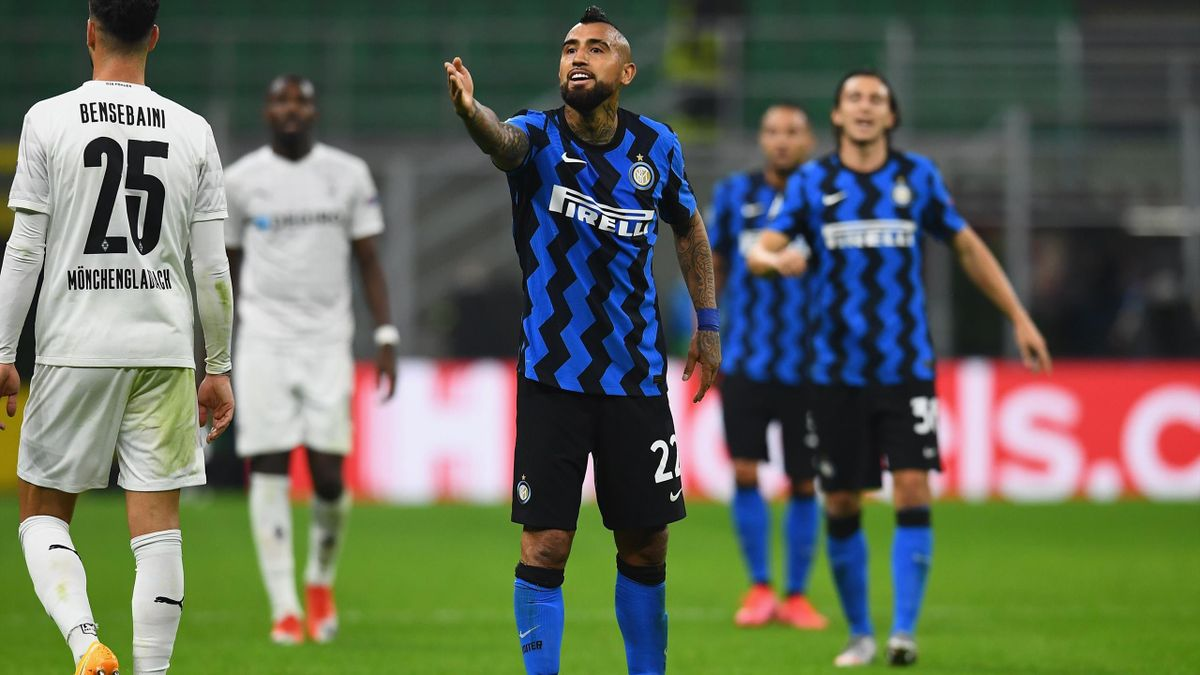 Vidal in Inter-Borussia Monchengladbach, Champions League