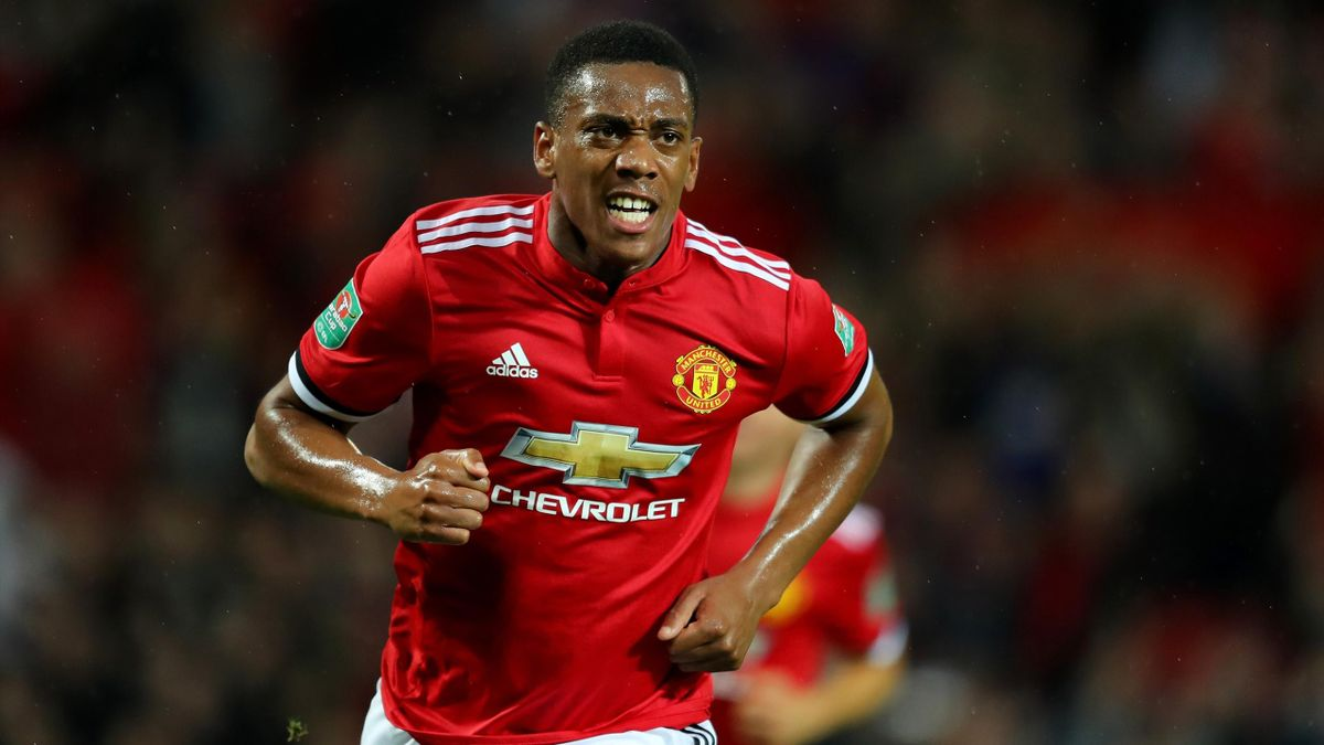 Anthony Martial avec Manchester United - 2017