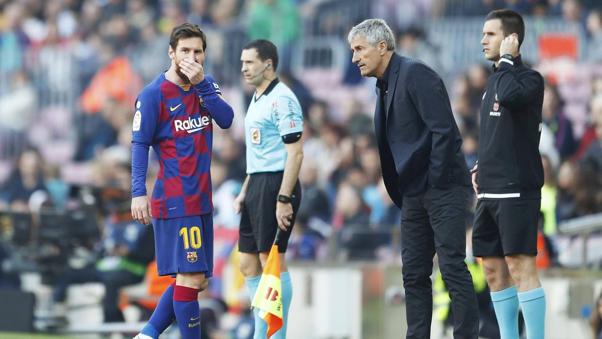 Messi, Quique Setien - Barcelona-Eibar - Liga 2019/2020 - Imago