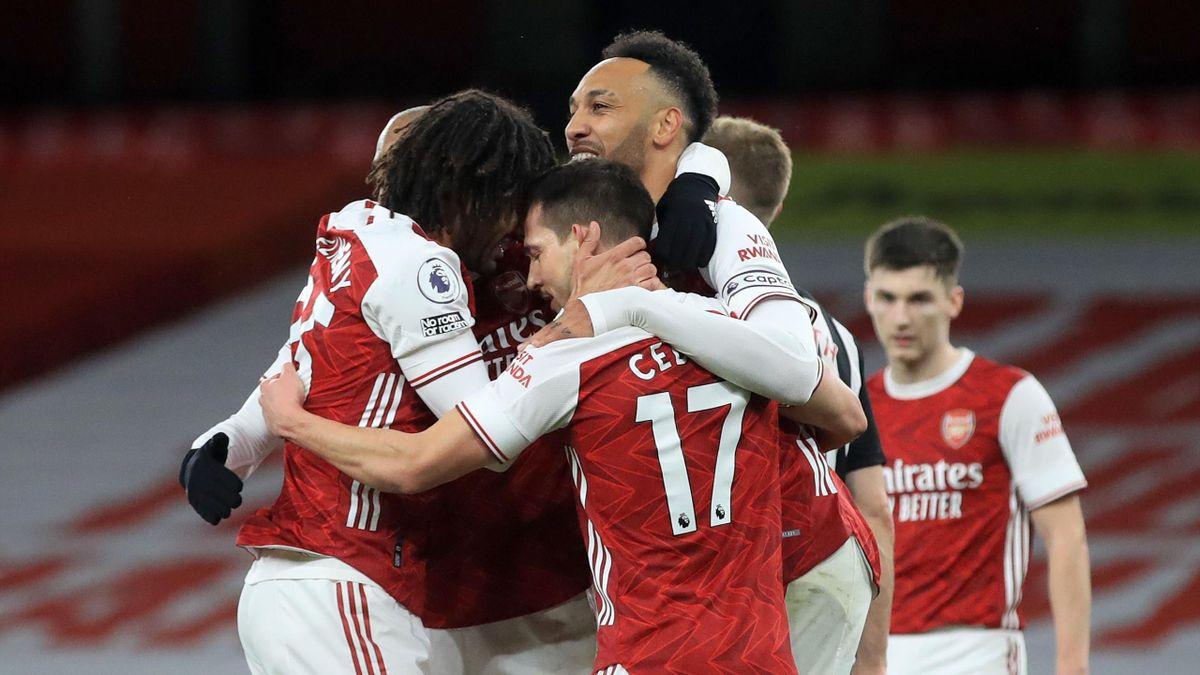 Der FC Arsenal jubelt über den Heimsieg gegen Newcastle United