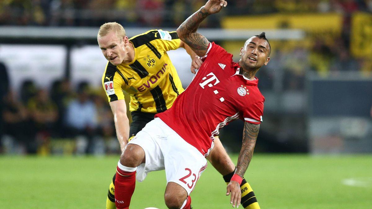 Sebastian Rode vs. Arturo Vidal (Borussia Dortmund vs. FC Bayern)