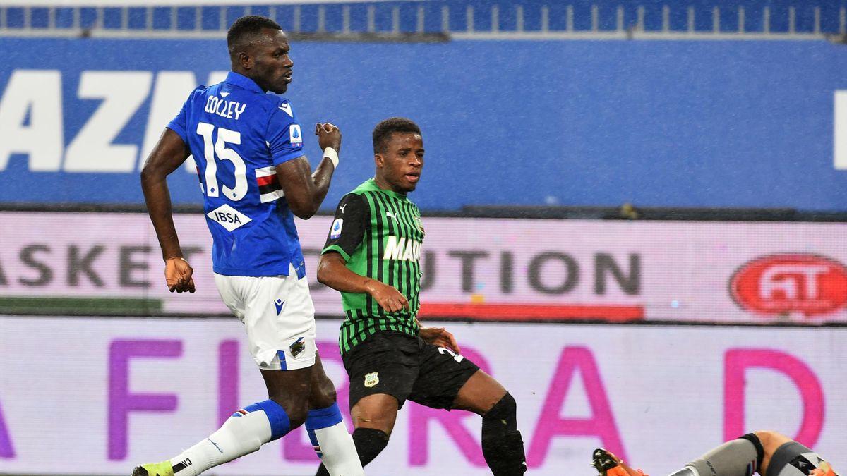 Junior Traoré trova il gol del vantaggio a Marassi, Sampdoria-Sassuolo, Getty Images