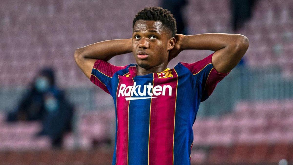 Ansu Fati - Barcellona-Dinamo Kiev - Champions League 2020/2021 - Getty Images