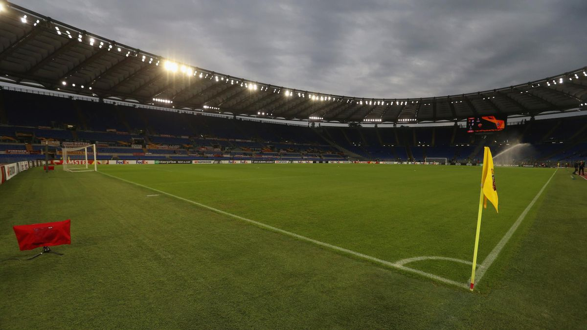 A general view of the Stadio Olimpico before the UEFA Europa League group J match between AS Roma and Borussia Moenchengladbach at Stadio Olimpico on October 24, 2019 in Rome, Italy.