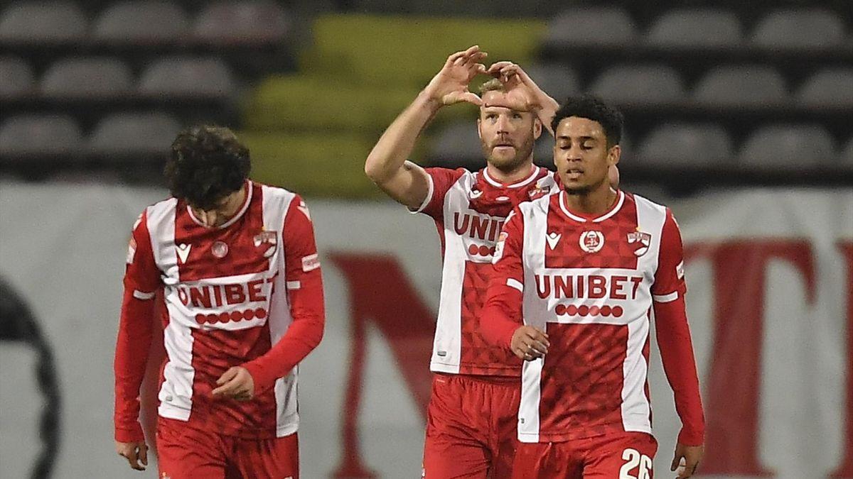 Adam Nemec a macat singurul gol al partidei Dinamo-FCSB, din optimile de finală ale Cupei României