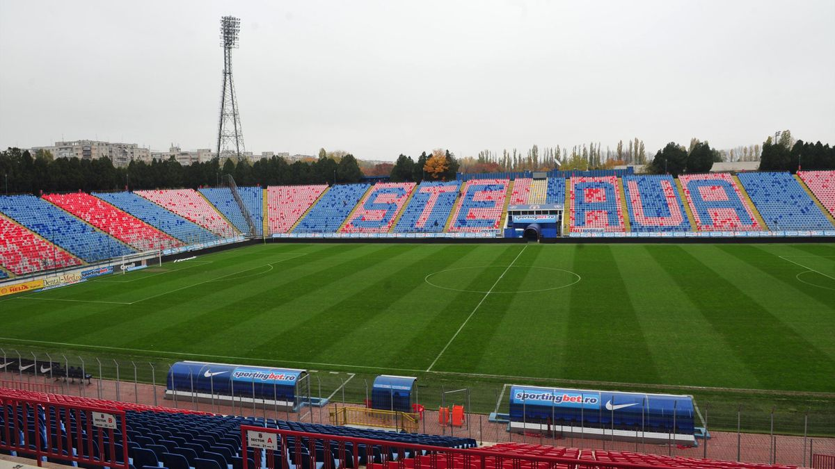 General view shows the inside of Steaua Bucharest's Ghencea Stadium in Bucharest (AFP)