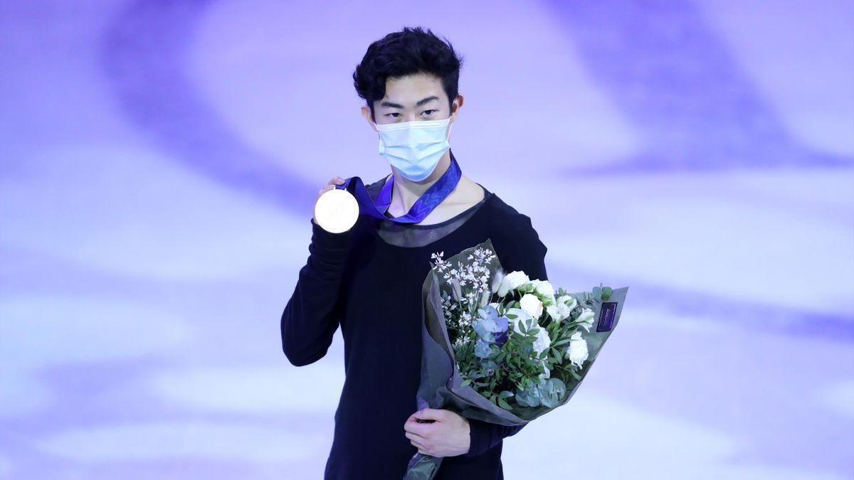 Nathan Chen a világbajnoki aranyéremmel