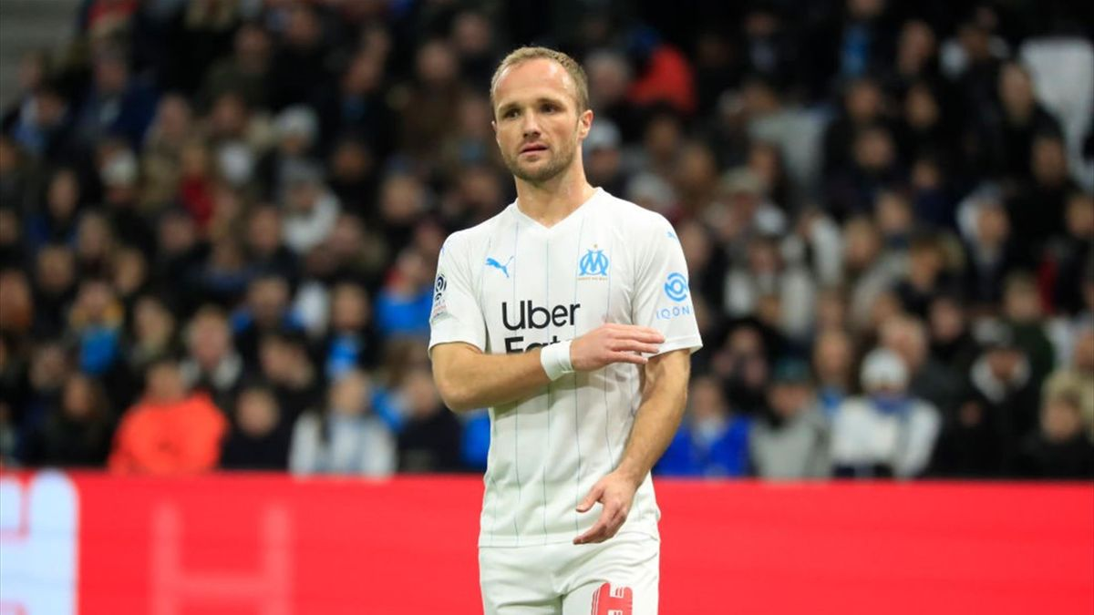 Valère Germain (Marseille) contre Amiens en Ligue 1 le 6 mars 2020