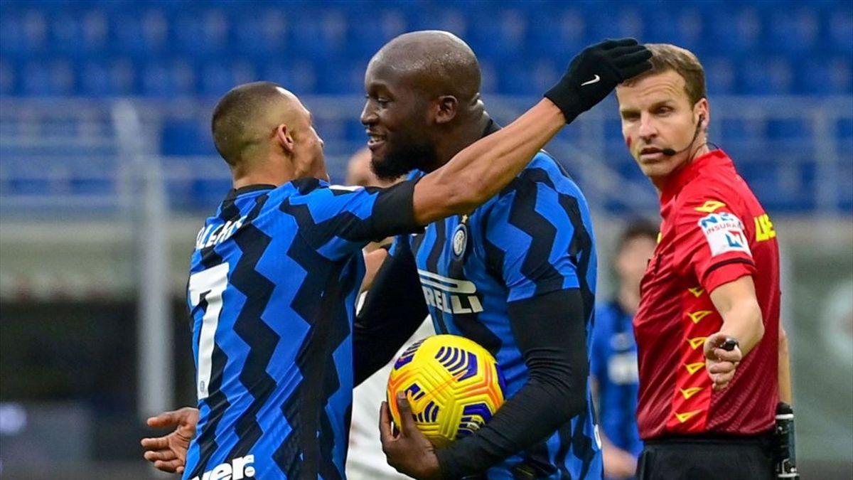 Alexis Sanchez e Romelu Lukaku - Inter-Torino Serie A 2020-21