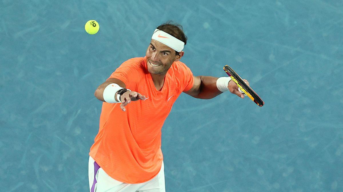 Rafa Nadal after beating Mmoh