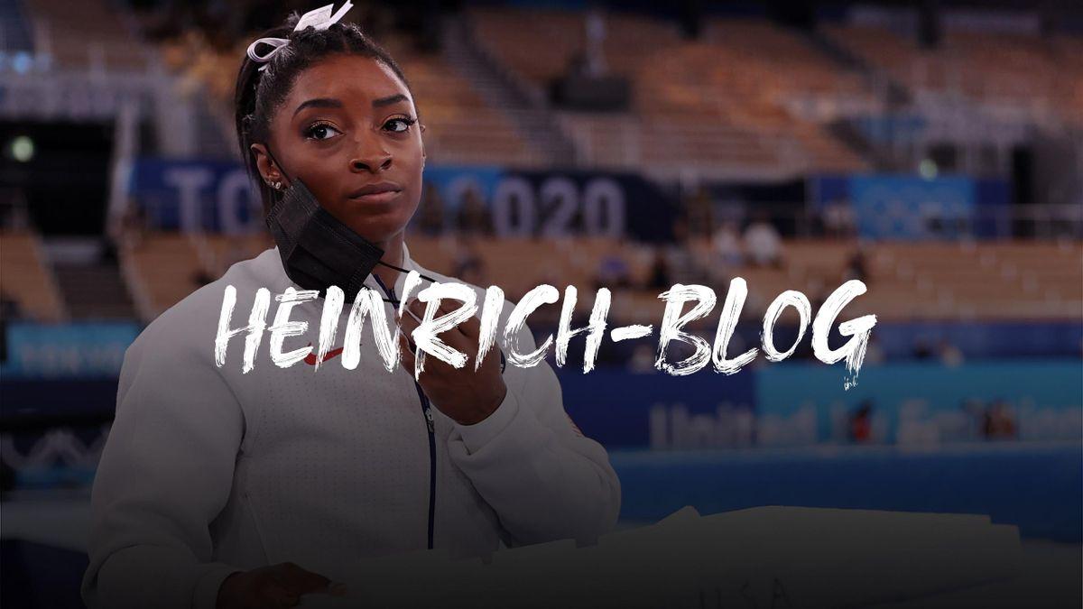 Heinrich-Blog: Simone Biles steigt in Tokio beim Mannschaftswettbewerb vorzeitig aus