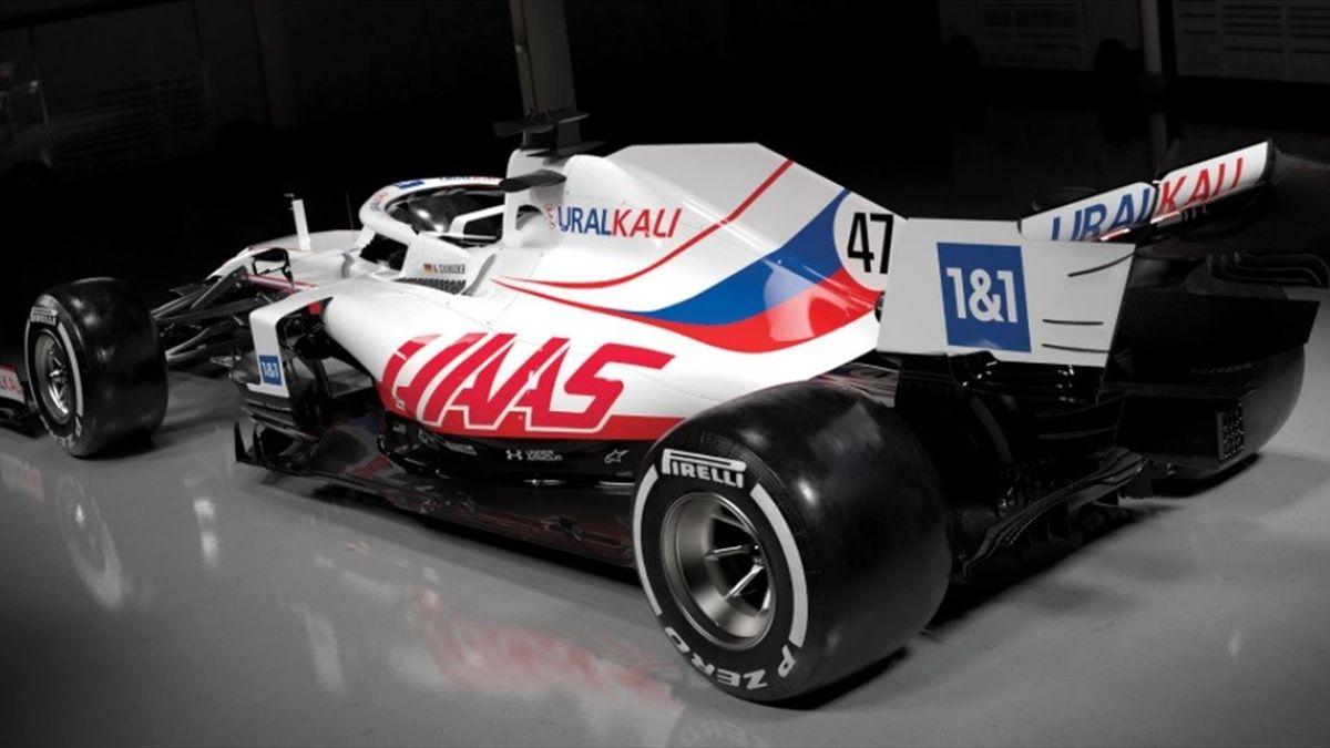 Un particolare della VF-21, la vettura della Haas per il Mondiale 2021 di Formula 1