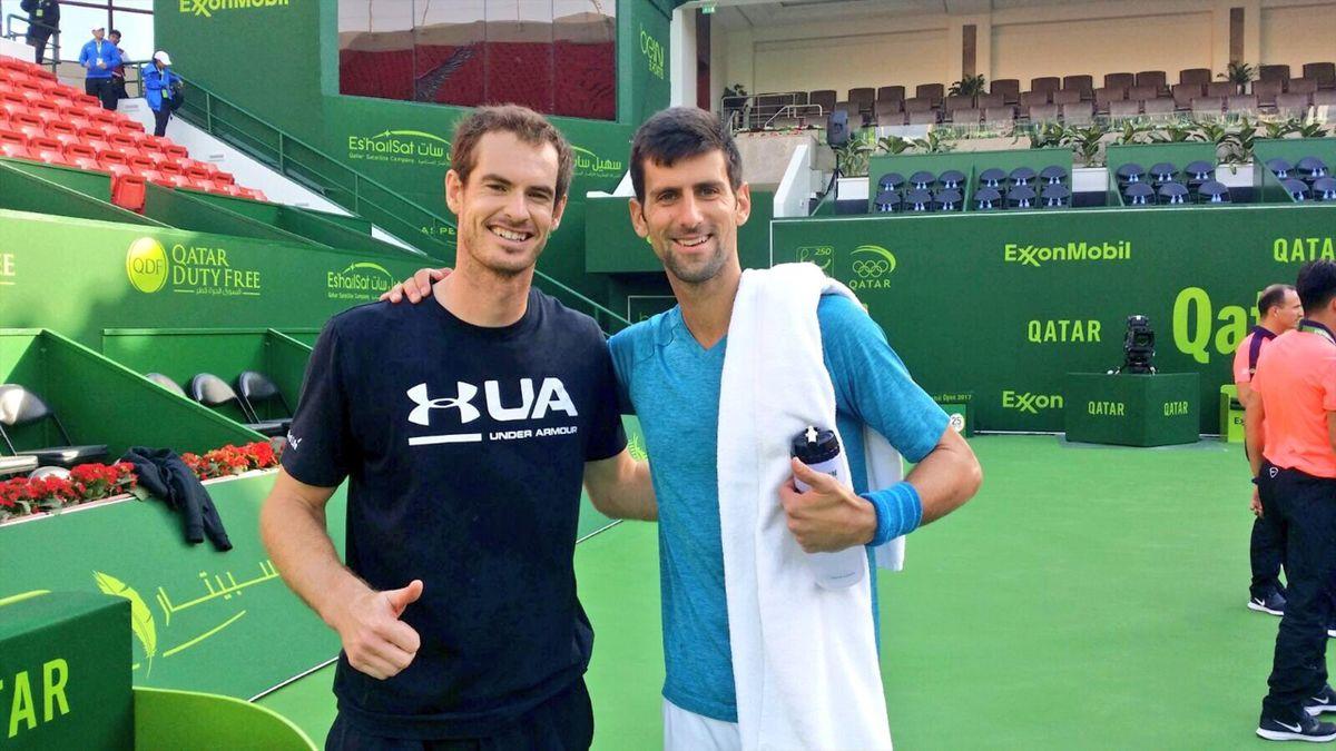 Murray et Djokovic à Doha - janvier 2017