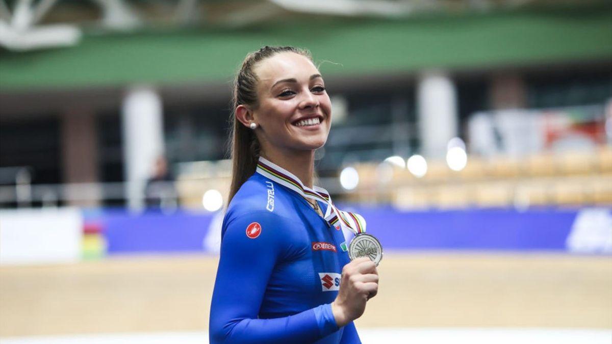 Letizia Paternoster, una delle punte di diamante della squadra femminile di ciclismo su pista
