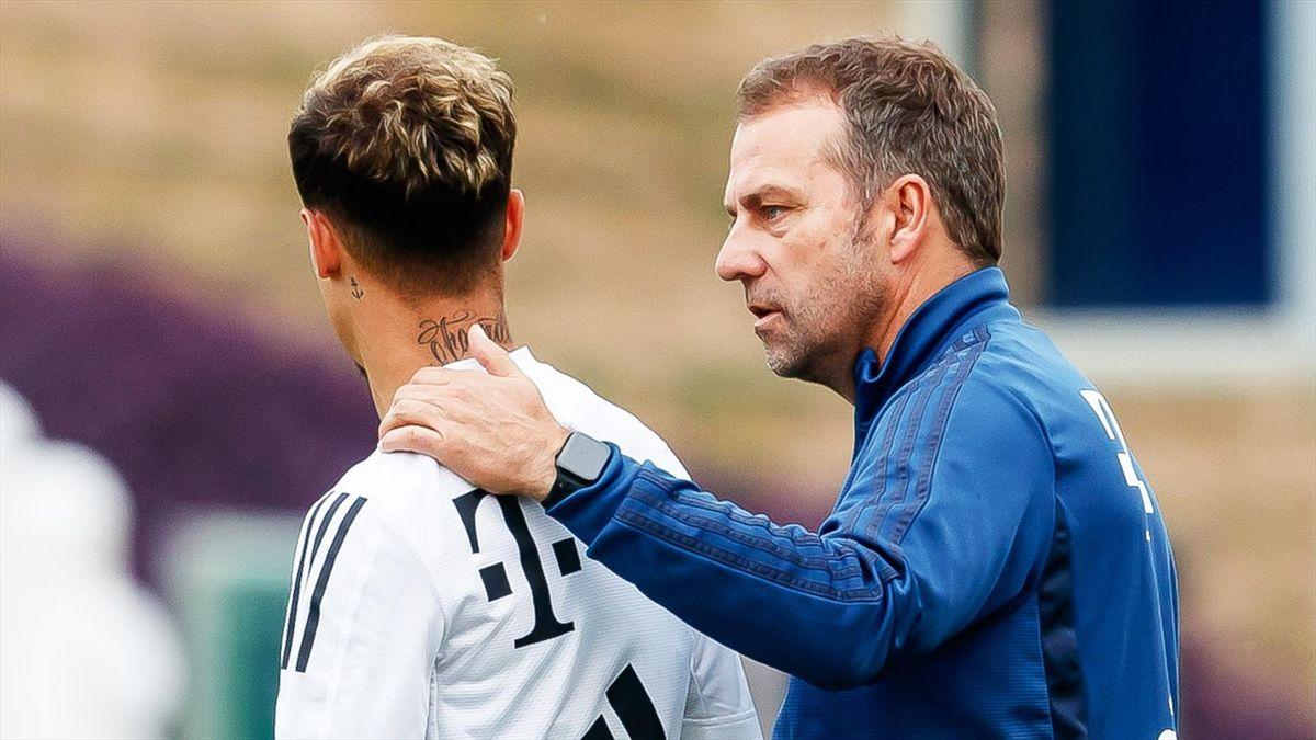 Philippe Coutinho, Hans-Dieter Flick - FC Bayern München