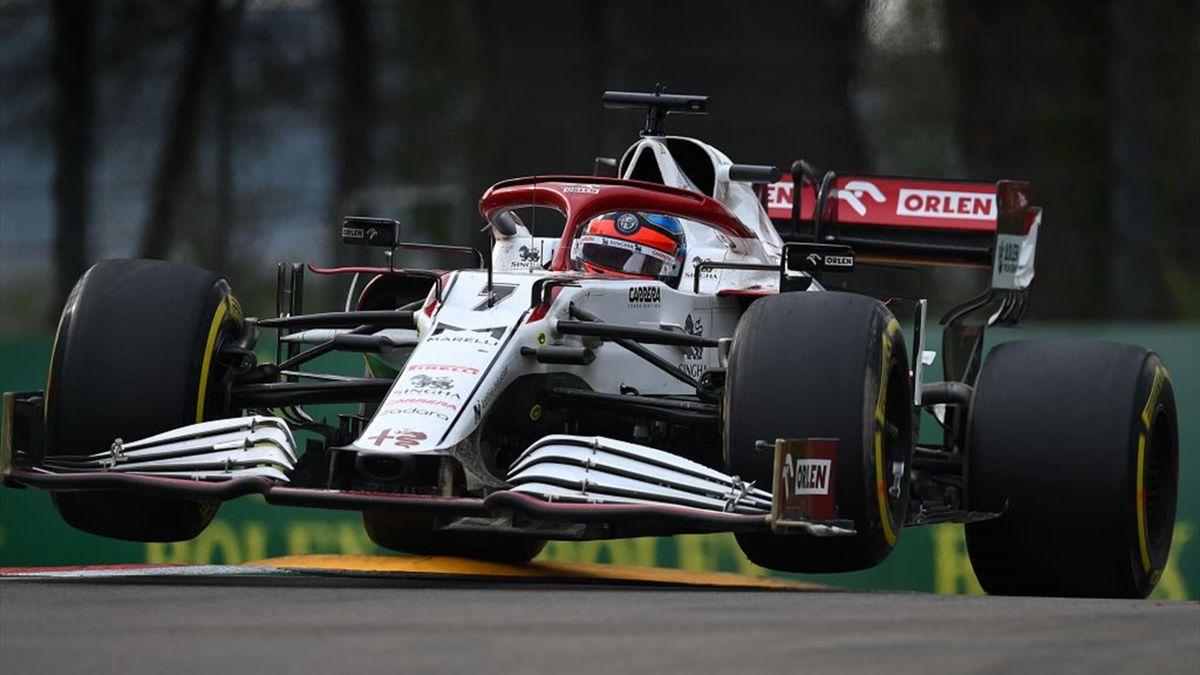 Kimi Räikkönen (Alfa Romeo) au Grand Prix d'Emilie-Romagne 2021