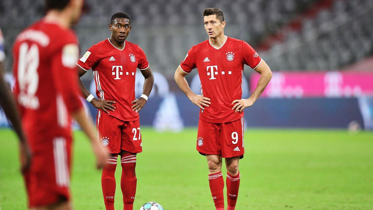 David Alaba (links) und Robert Lewandowski - FC Bayern München