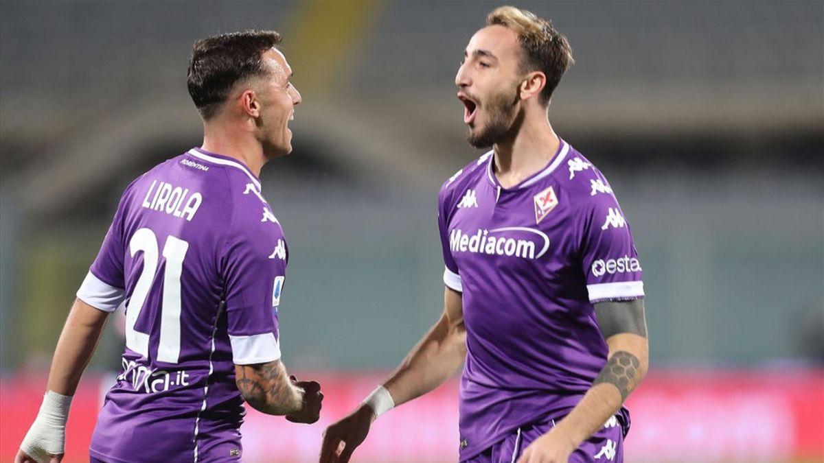 Pil Lirola e Gaetano Castrovilli - Fiorentina-Udinese Serie A 2020-21