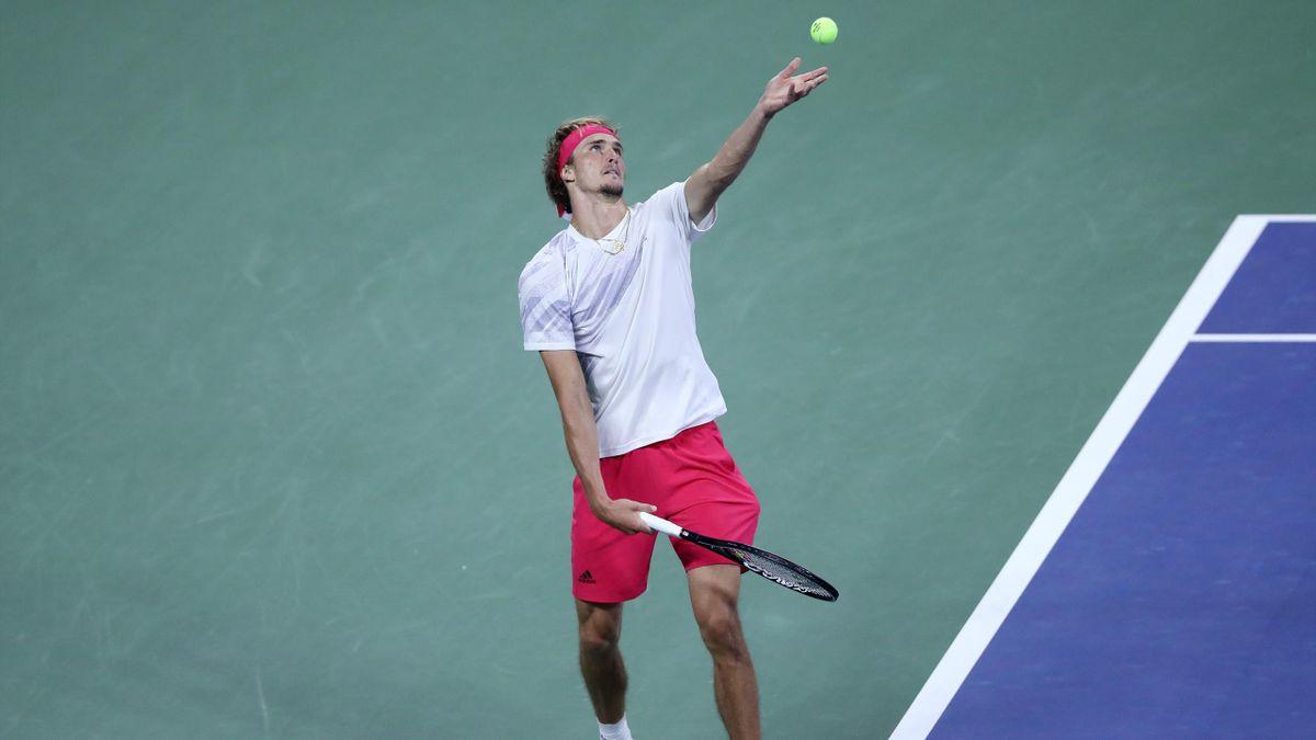 Alexander Zverev beim Aufschlag bei den US Open