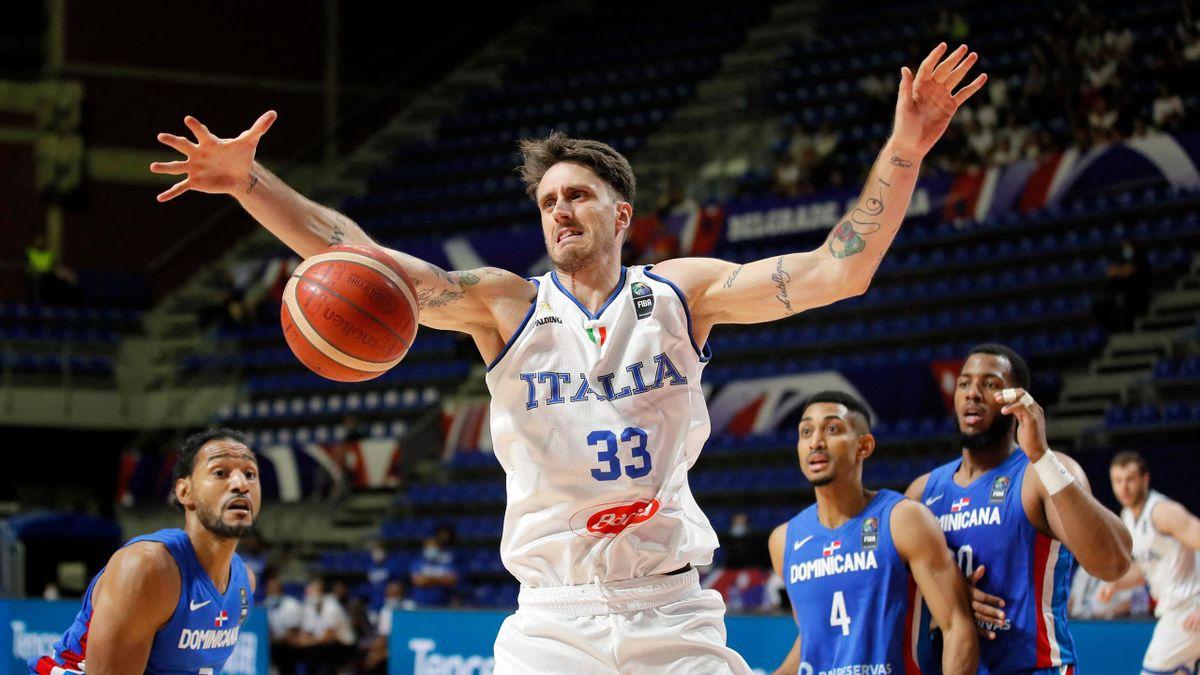 Achille Polonara, Italia-Repubblica Dominicana, torneo preolimpico di Belgrado 2021