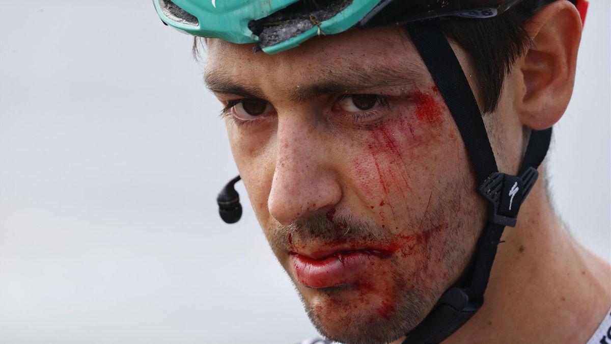 Emanuel Buchmann musste beim Giro nach seinem Sturz aufgeben