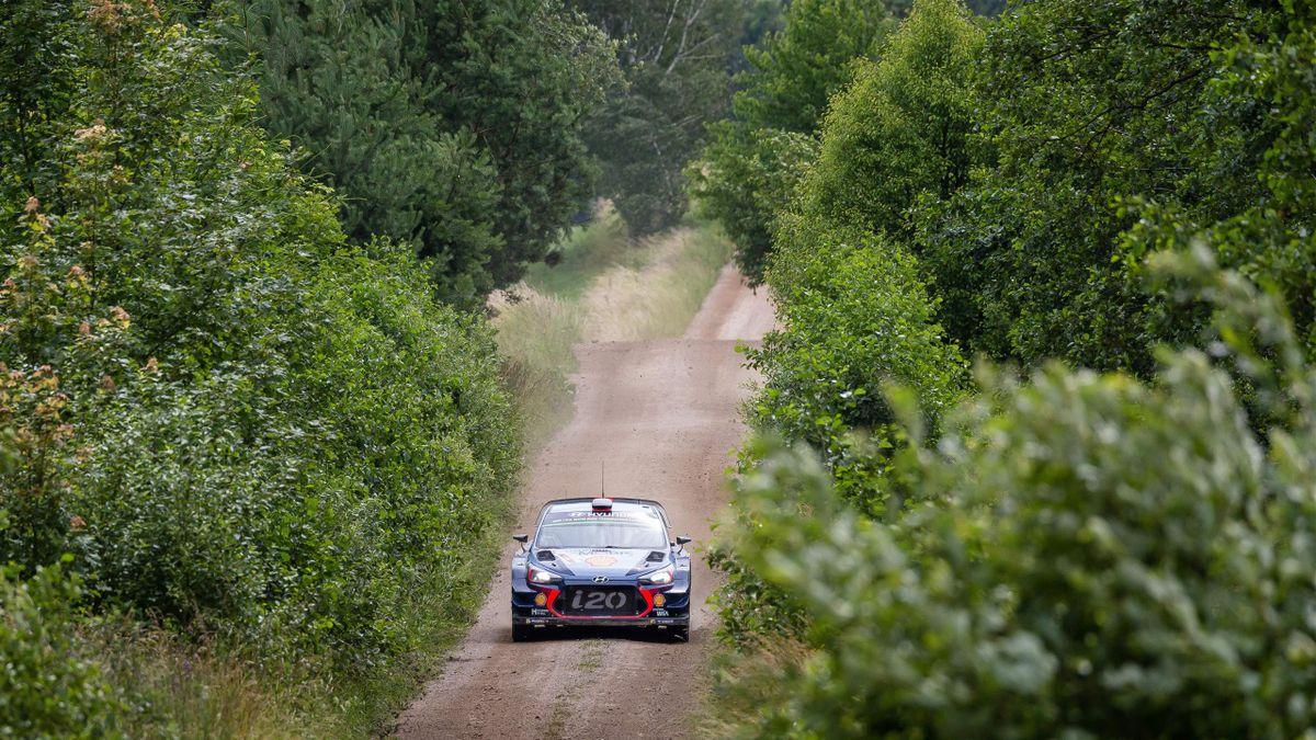 Thierry Neuville (Hyundai) au Rallye de Pologne