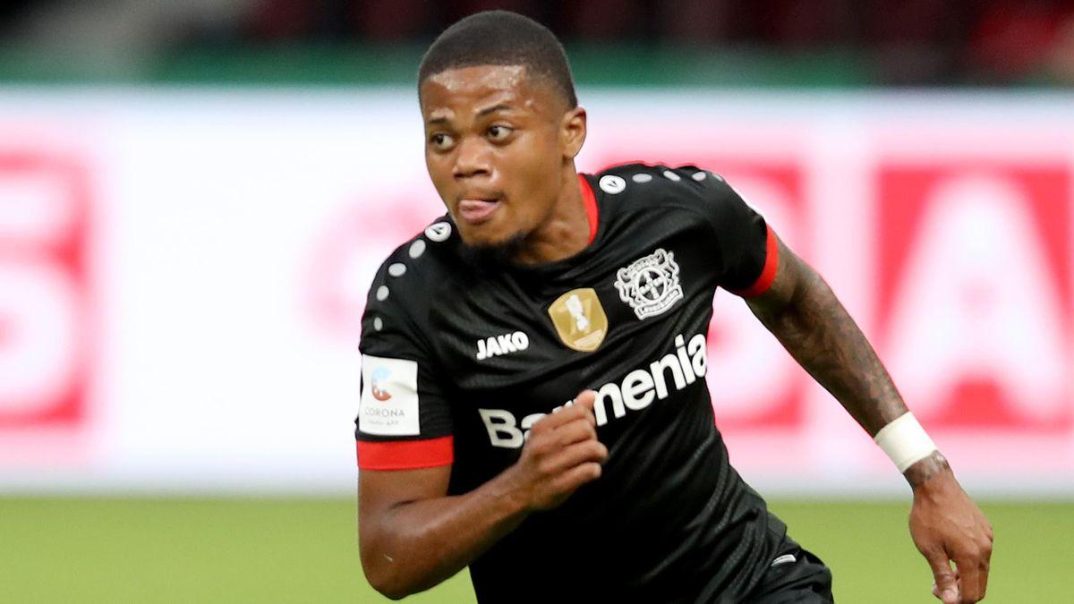 Leon Bailey in action for Bayer Leverkusen