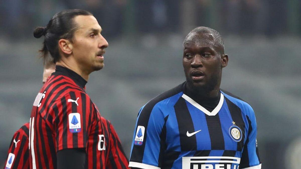 Zlatan Ibrahimovic e Romelu Lukaku in Inter-Milan 2020