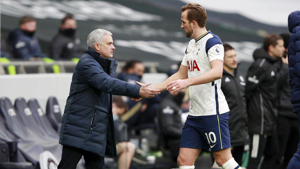 José Mourinho (l.) und Harry Kane