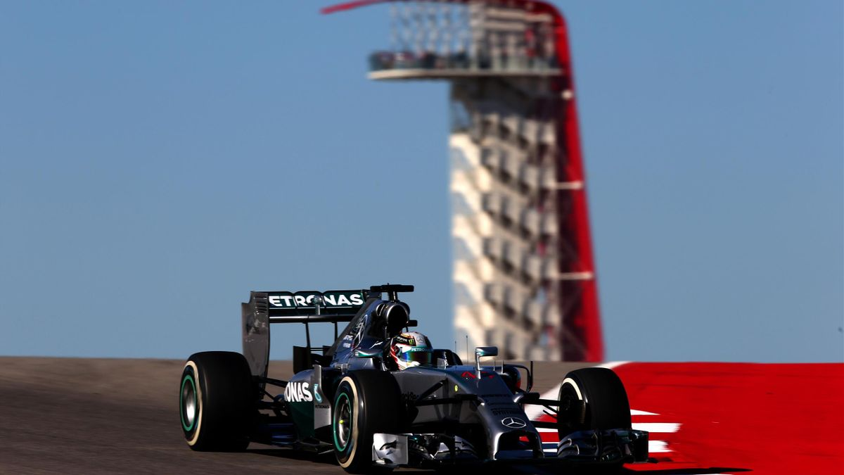 Lewis Hamilton of Great Britain and Mercedes GP drives during practice ahead of the United States Formula One Grand Prix (AFP)