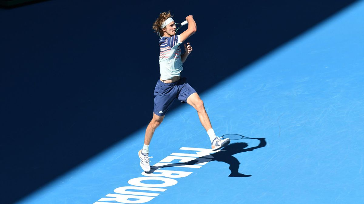 Alexander Zverev bei den Australian Open
